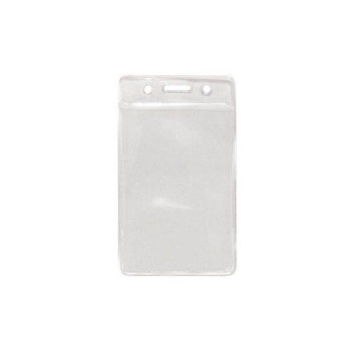 Clear Credit Card Size Vertical Color-Bar Badge Holders - 100pk (1820-1050) Image 1