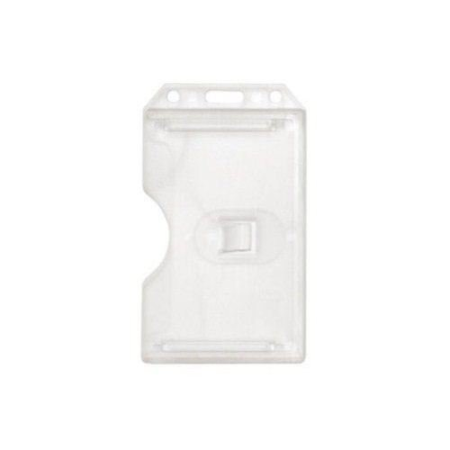 Open Face Sided Vertical Rigid Card Holders Image 1