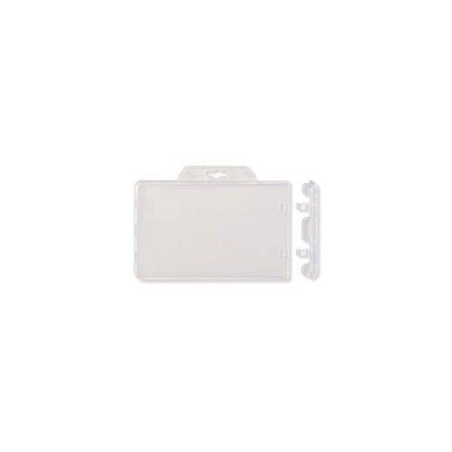 Clear Horizontal Permanent Locking Plastic Card Holder - 50pk (MYBPIDS92H) Image 1