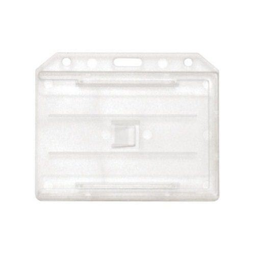 Clear Open Face 2-Sided Horizontal Rigid Card Holders - 50pk (1840-3050) Image 1