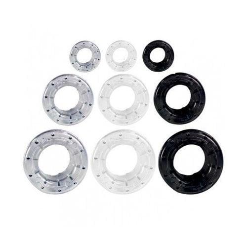 "#3 7/16"" (12mm) Black Plastic Grommets - 500 Sets (05IOMGP3BLK), MyBinding brand Image 1"