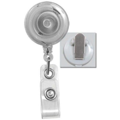 Clear Translucent Round Badge Reel with Spring Clip - 25pk (2120-4730) - $24.09 Image 1
