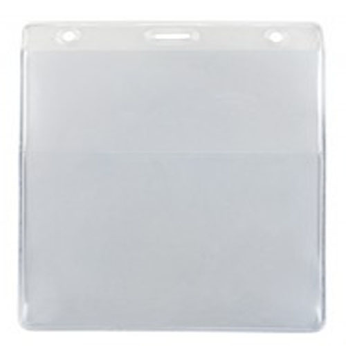 Clear Vertical Event Vinyl Credential Wallet with Slot and Chain Holes - 100pk (1860-4000), Id Supplies Image 1