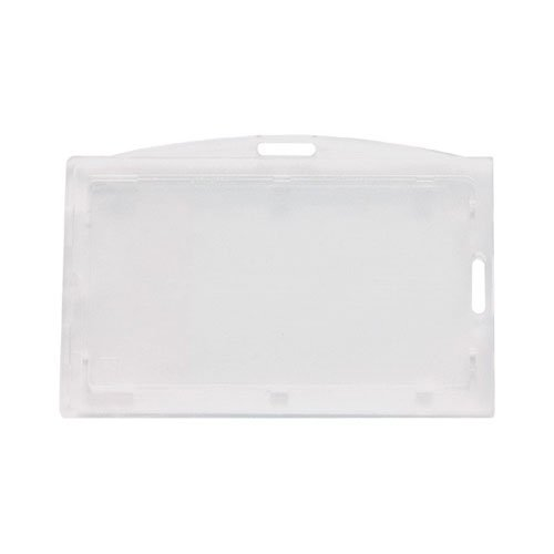 Clear Vertical Locking Plastic Card Holder - 50pk (MYBP706LT1) Image 1