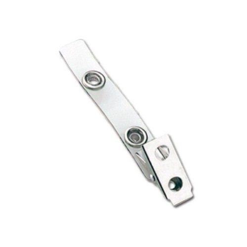 Clear Vinyl Straps with 2-Hole Large Snap Clips - 100pk (2105-1985) Image 1