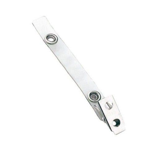 Clear Vinyl Straps with 2-Hole Stainless Steel Clips - 500pk (2105-1320) Image 1
