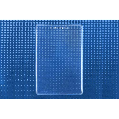 "Clear Vinyl Vertical Extra Large Credential Holder (3-1/2"" x 5-1/2"") - 100pk (MYBP50646) Image 1"