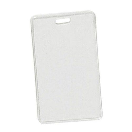 Clear Vinyl Vertical Proximity Badge Holder with Slot - 100pk (1840-5050) Image 1