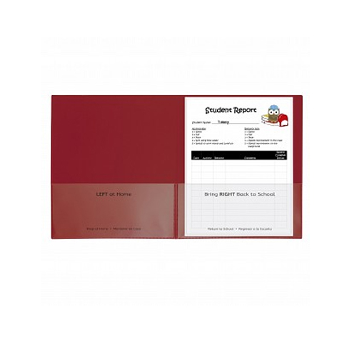 C-Line Red Classroom Connector School-To-Home Two-Pocket Folder 25pk (CLI-32004) Image 1