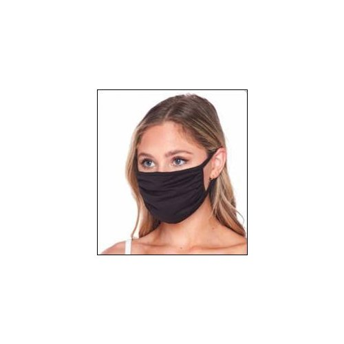 Black Cloth Reusable Face Mask with Pocket (for Filter) - 1pk (MIS-FMB), Work from Home Products Image 1