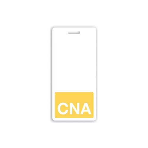 CNA Vertical Badge Buddies (Yellow Bar/White Text) - 25pk (1350-2138) Image 1