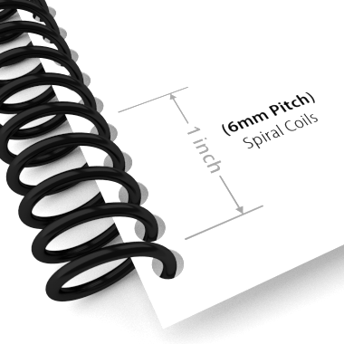 Spiral Binding Coils Size Image 1