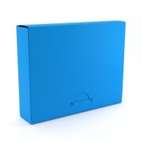 "1"" Legal Colonial Blue Poly Document Boxes (MYPDBL100CB) - $386 Image 1"