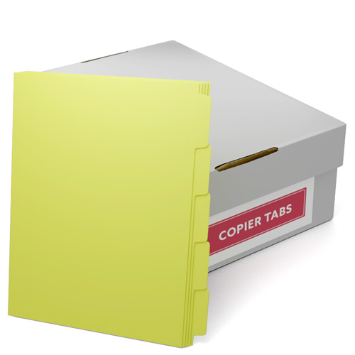 90lb Canary Plain Paper Copier Tabs - 1 Carton (B90-CANARYXXX), Copier Tabs Image 1