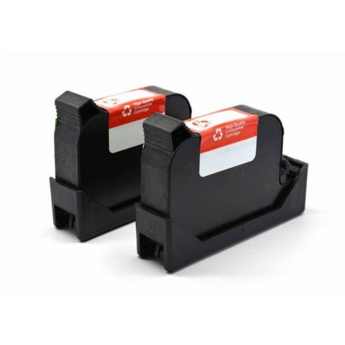 Compatible Fluorescent Red Ink Cartridge (PIC40) for FP Postbase 20/30/45/65/85/Pro/ProDS - 2pk (ECOPIC40) Image 1