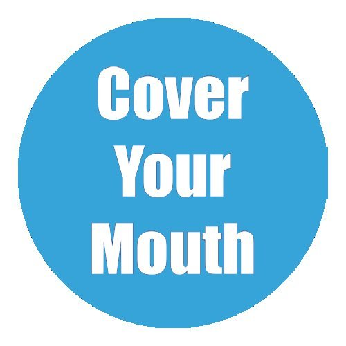 "Flipside ""Cover Your Mouth"" Cyan 11"" Round Non-Slip Floor Stickers - 5pk (FS-97058), Flipside brand Image 1"