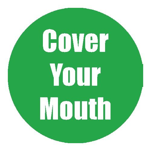 "Flipside ""Cover Your Mouth"" Green 11"" Round Non-Slip Floor Stickers - 5pk (FS-97062), Flipside brand Image 1"