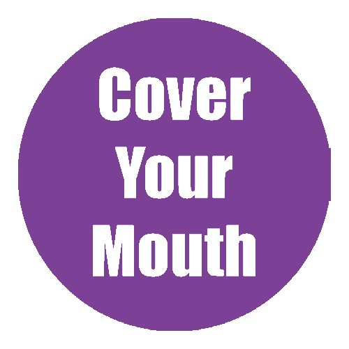 "Flipside ""Cover Your Mouth"" Purple 11"" Round Non-Slip Floor Stickers - 5pk (FS-97066), Flipside brand Image 1"
