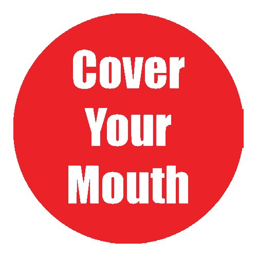 "Flipside ""Cover Your Mouth"" Red 11"" Round Non-Slip Floor Stickers - 5pk (FS-97060), Flipside brand Image 1"