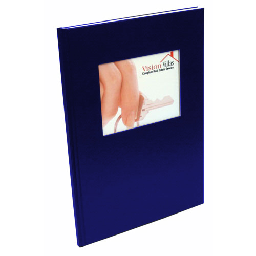 "Coverbind 1/8"" Navy Ambassador with Window Hard Covers 13pk - 675610 (08CBHCW18NAVY) Image 1"