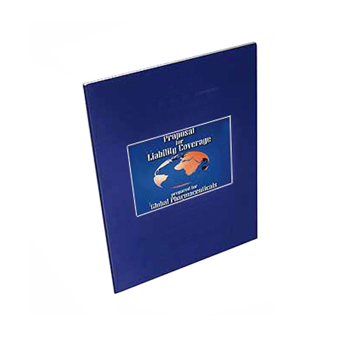 "Coverbind 3/4"" Navy Portfolio Thermal Covers 50pk (CB674107) Image 1"