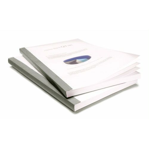 "Coverbind 1/16"" Graphite Eco Clear Linen Thermal Covers - 100pk (08CBE116GRT) Image 1"