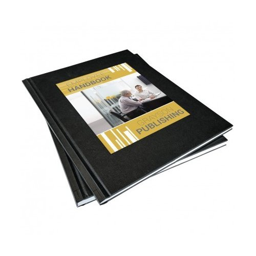"Coverbind 1/2"" Black Ambassador On Demand Hard Covers 8pk - 675873 (08CBHCOD12BLK) Image 1"