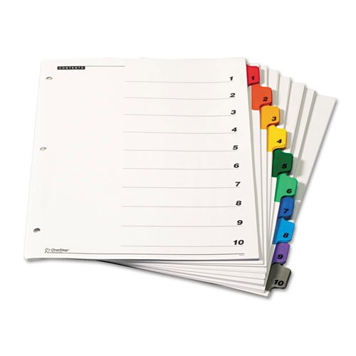 Cardinal Multi-Color Table of Contents/10 Tab Divider 144pk - CB (CRD-61028) - $278.4 Image 1