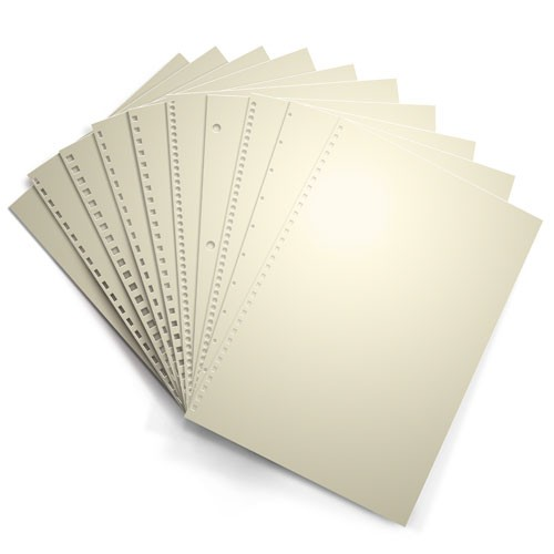 Cream 24lb Punched Binding Paper - 500 Sheets (PPP24EOCR)