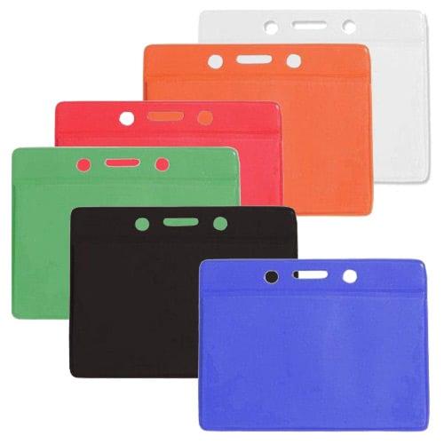 Credit Card Size Horizontal Colored Back Badge Holders - 100pk (MYCCSHCBKBH) - $35.99 Image 1