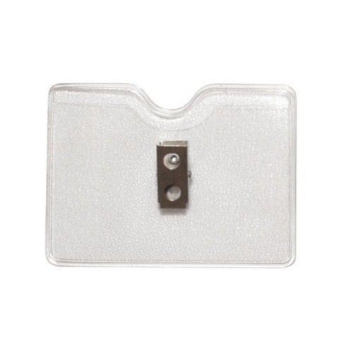 Credit Card Size Horizontal Top Load Badge Holders w/ Clips - 100pk (1810-1000)