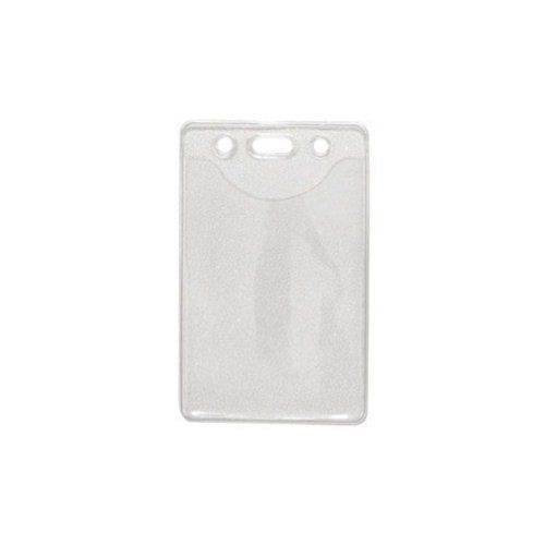 Credit Card Size Vertical Clear Vinyl Badge Holders w/ Holes - 100pk (1815-1100) Image 1