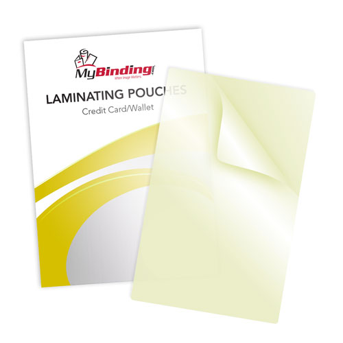 Business Card Sticky Back Laminating Pouches (MYLKLPBUSINESSSBLP) Image 1