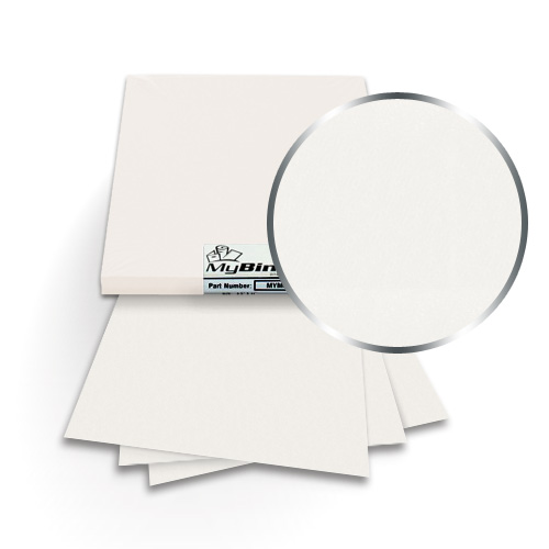 Cryogen White 9 x 11 Index Allowance Metallics Covers With Windows - 50 Sets (MYMC9X11CWW) Image 1
