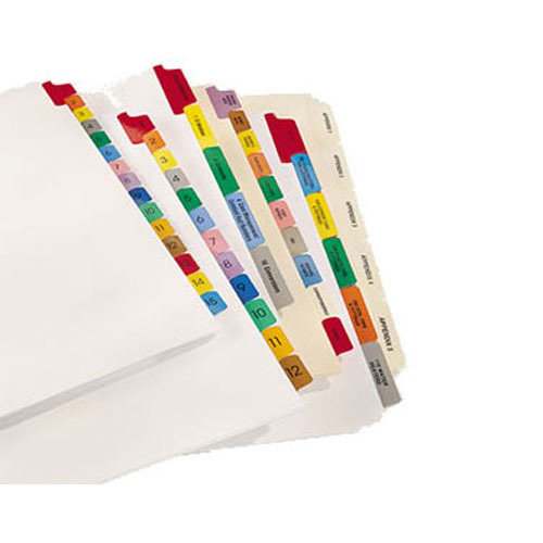 Custom Printed Index Tabs - 5 Tabs Per Set (CUSTOMTABS5) Image 1