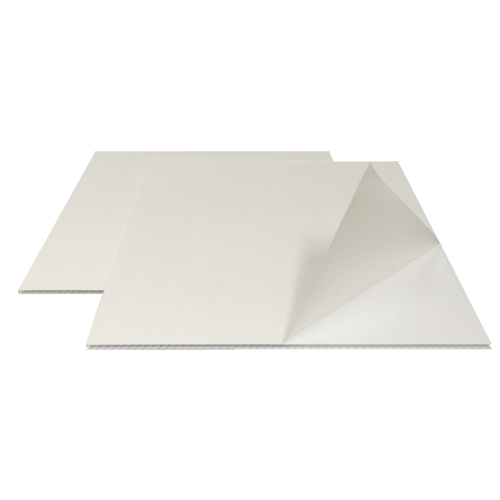 "White 12"" x 18"" Corrugated Plastic Laminating Pouch Boards - 10pk (CWPB1218)"