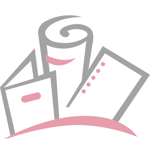 "1/16"" Blue Prestige Linen Thermal Covers with Windows - 100pk (BI116PLBLW)"