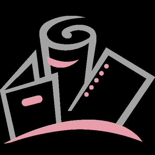 Orange Round Retractable Badge Reel with Slide Clip Image 1