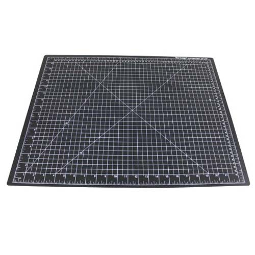 "Dahle 9"" x 12"" Vantage Black Self-Healing Cutting Mat (10670) Image 1"