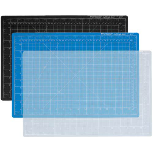 "Dahle 9"" x 12"" Vantage Blue Self-Healing Cutting Mat (10690)"