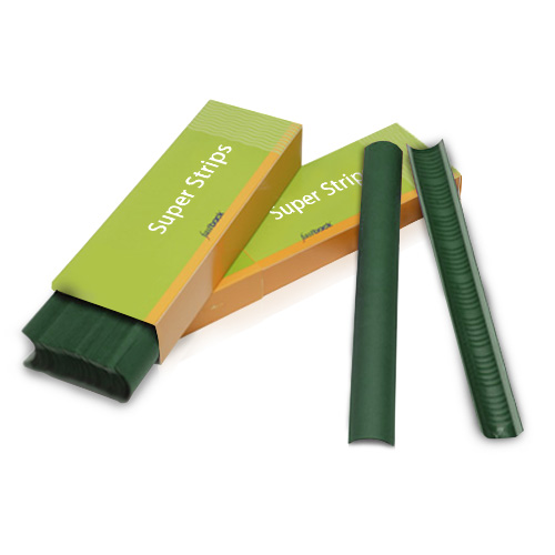 "Powis Parker Dark Green 8.5"" Narrow Fastback Super Strips (N022) Image 1"