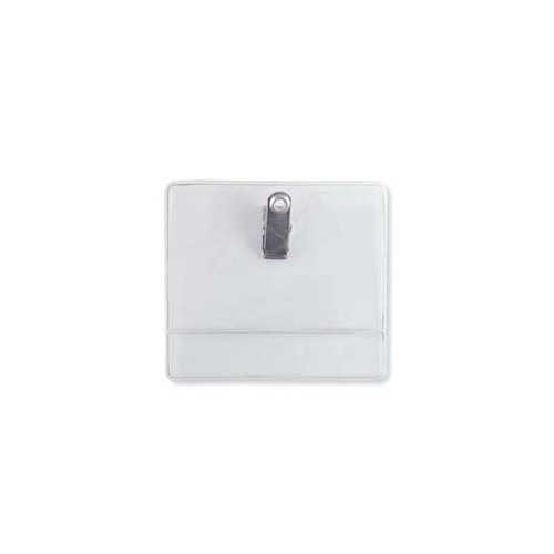 Data Card Size Premium Vinyl Clip-On Display Badge Holder - 100pk (MYDCSPVCDBH) Image 1