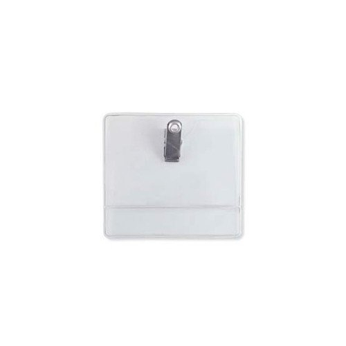 Data Card Size Premium Vinyl Horizontal Clip-On Display Badge Holder - 100pk (504-T1L) Image 1