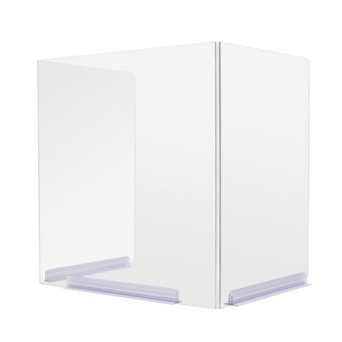 Classroom Hinged Edge Desktop Protective Barrier