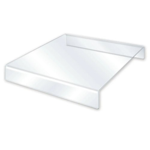 "Deflecto Clear Acrylic 10"" x 10"" Food Delivery Riser - 3pk (97PPE71745P)"