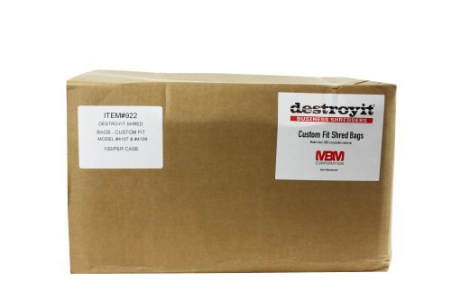 Destroyit 922 Bags for 4107, 4109 Shredders (MB-0922) Image 1