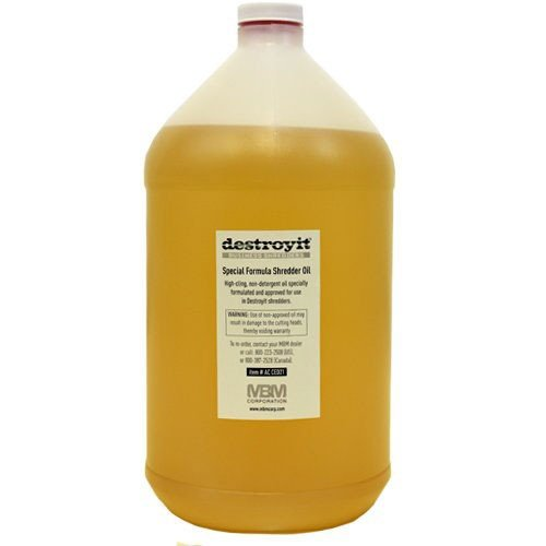 Destroyit MBM Shredder Oil - 1 Gallon Bottle (4pk) (MB-ACCED21/G) Image 1