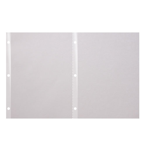 "Docucopy 24lb 11"" x 17"" 6-Hole Punched Reinforced Edge Paper (2-Up) - 2000 Sheets (HO7546) Image 1"