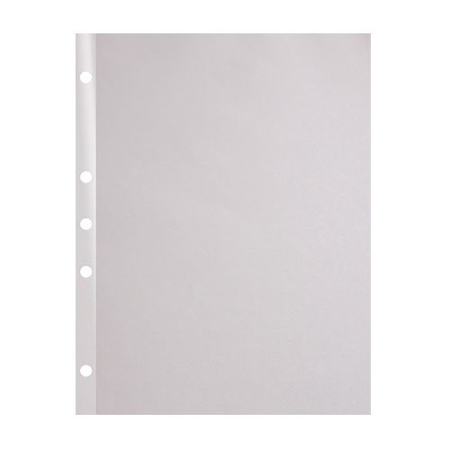 "24lb 8.5"" x 11"" 5-Hole Punched Reinforced Edge Paper - 2500 Sheets (24RE585115000SH), Binding Supplies Image 1"
