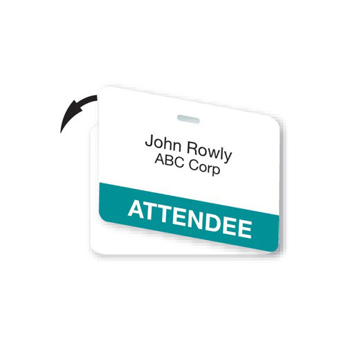 Double-Sided CARDbadge ID - Attendee (MYID04412)
